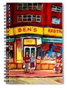 Ben's Delicatessen - Montreal Memories - Montreal Landmarks - Montreal City Scene - Paintings  Spiral Notebook