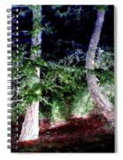 Bent Fir Tree Spiral Notebook
