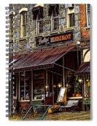 Bentleys Restaurant Woodstock Vermont Spiral Notebook