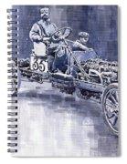 Benz 60hp Targa Florio Rennwagen 1907 Spiral Notebook