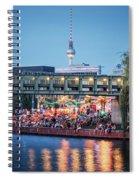 Berlin - Capital Beach Bar Spiral Notebook