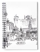 Berlin Medley Monochrome Spiral Notebook