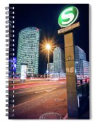 Berlin - Potsdamer Platz Square At Night Spiral Notebook