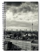 Berlin Skyline And Roofscape -black And White Spiral Notebook