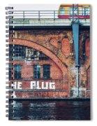 Berlin Street Art - Pull The Plug Spiral Notebook