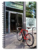 Berlin Street View With Red Bike Spiral Notebook