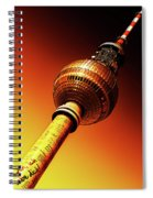 Berlin Television Tower - Berlin I Love You Spiral Notebook