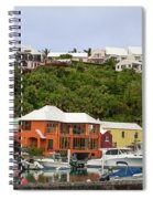 Bermuda Waterside Scene Spiral Notebook