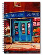 Bernard Fruit And Broomstore Spiral Notebook
