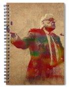Bernie Sanders Watercolor Portrait Spiral Notebook