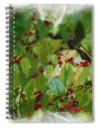 Berries And Leaves 51 Spiral Notebook