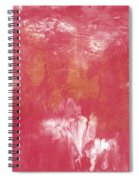 Berry And Gold- Abstract Art By Linda Woods Spiral Notebook