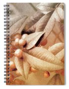 Berry And Leaf Brocade Spiral Notebook