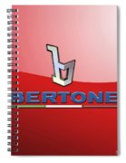 Bertone 3 D Badge On Red Spiral Notebook