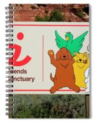 Best Friends Animal Sanctuary Angel Canyon Knob Utah Signage 03 Spiral Notebook