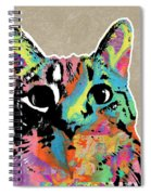 Best Listener Kitty- Pop Art By Linda Woods Spiral Notebook