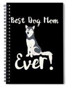 Bestdogmomever Husky Spiral Notebook