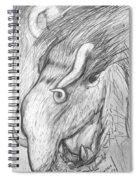 Bestia De Cuerno Espiralado. Spiral Notebook