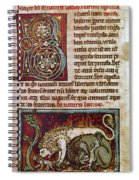 Bestiary: Lion Spiral Notebook