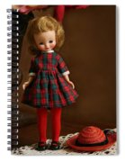 Betsy In Plaid Spiral Notebook