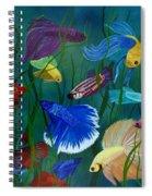 Bettas In Motion Spiral Notebook