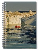 Between Icebergs - Greenland Spiral Notebook