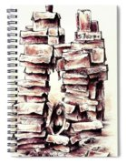 Between The Boxes Spiral Notebook