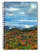 Between The Clouds Blue Ridge Parkway North Carolina Art Spiral Notebook