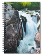 Betws-y-coed Waterfall In North Wales Spiral Notebook