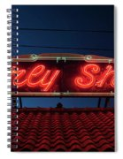 Beverly Shores Indiana Depot Neon Sign Panorama Spiral Notebook