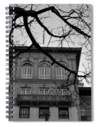 Beverly Wilshire Hotel - Beverly Hills - Black And White Spiral Notebook