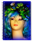 Beverlys Blue Butterflys Spiral Notebook