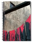 Beware All Who Enter Here - Halloween Gate Spiral Notebook