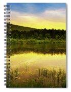 Beyond Sunset Landscape Spiral Notebook