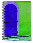 Beyond The Blue Door Spiral Notebook