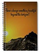Beyond The Horizon Spiral Notebook
