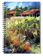 Beyond The Red Flowers Spiral Notebook