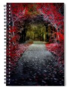 Beyond The Red Leaves Spiral Notebook