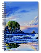 Beyond The Shore Spiral Notebook