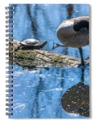 Bff Turtle And Canda Goose Spiral Notebook