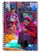 Bhaktapur Holi Market Spiral Notebook