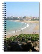 Biarritz Beach Panorama Spiral Notebook