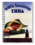 Bibita Tamarindo - Erba - Vintage Drink Advertising Poster Spiral Notebook