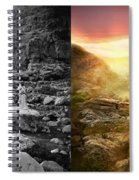 Bible - Psalm 23 - Yea, Though I Walk Through The Valley 1920 - Side By Side Spiral Notebook