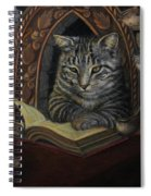 Bibliocat Reads To His Friends Spiral Notebook