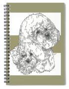 Bichon Frise And Pup Spiral Notebook