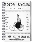 Bicycle, 1897 Spiral Notebook