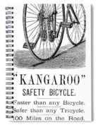 Bicycle Ad, 1885 Spiral Notebook