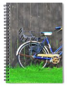 Bicycle And Gray Fence Spiral Notebook