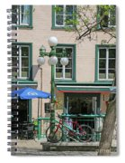 Bicycle And Lamppost 6417 Spiral Notebook